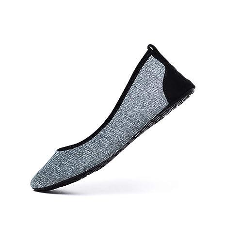 YFDYG Zapatos De Playa,Plata Gris Mujeres Zapatos Aqua ...