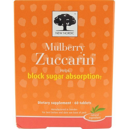 Pack de 2 de Zuccarin Mûrier aide à bloquer l'absorption du sucre 60ct par de NOUVEAUX NORDIQUES