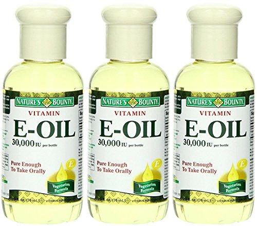 Nature's Bounty Vitamin E Oil - 30,000 IU - Pure Enough To Take Orally - Vegetarian Formula - Net Wt. 2.5 FL OZ (74 mL) Each - Pack of 3