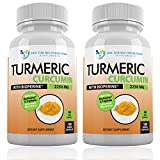 Turmeric Curcumin with Bioperine - 360 Veggie Caps - 2250mg 95% Curcuminoids Highest Max Potency with Black Pepper for Anti-Inflammatory Joint Pain Relief Pills - Supplement with Triphala
