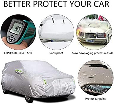 4 Layer Car Cover Soft Breathable Dust Proof Sun Uv Water Indoor Outdoor 4849