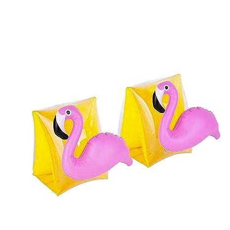 AOLVO Manguitos Natacion para Niñ Flotador Bebe - Flamingo