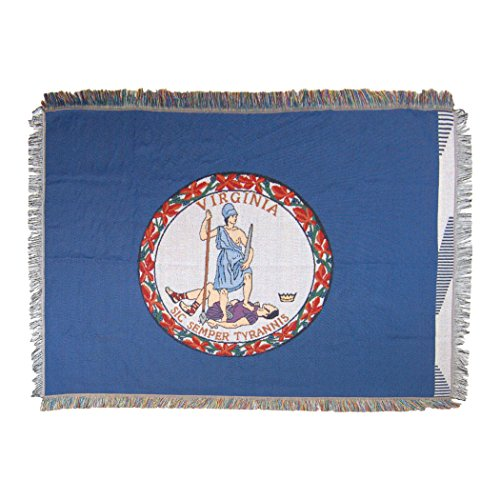 - The Northwest Company Virginia State Flag Woven Tapestry Throw Blanket, 48