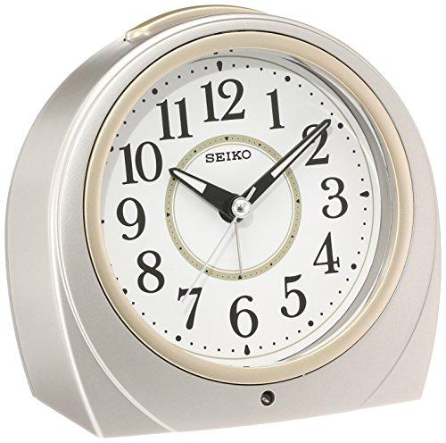 (SEIKO CLOCK ( Seiko clock ) automatic lights alarm clock ( silver ) Round KR888S by Seiko Watches)