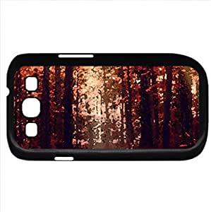 Autumn forest (Forests Series) Watercolor style - Case Cover For Samsung Galaxy S3 i9300 (Black)