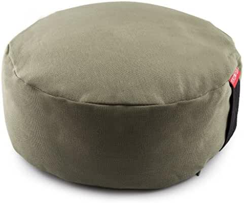 Peace Yoga® Zafu Meditation Yoga Buckwheat Filled Round Cotton Bolster Pillow Cushion - Choose your Color and Size