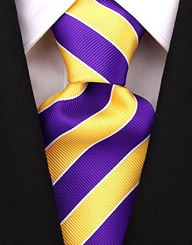 College Striped Ties for Men - Woven Necktie - Purple ()