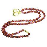 Prayer Mala Beads Pink Jade Rudraksha Japa Mala