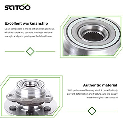 SCITOO Front Wheel Bearing and Hub Assemblies Compatible with 1997-2004 Dodge Dakota Durango Wheel Hub Bearing Assembly 515007 Left Passenger: Automotive