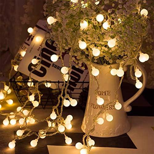 BANCELI-Catena Luminosa Solare – 200LED 20M Luci Decorative Stringa Solari Impermeabile Illuminazione per Natale Luce Solare a Sfera di Cristallo per Giardino, Patio,