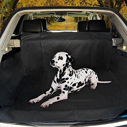 Poppypet Kofferraumschutz Hunde, Praktische Auto Hundedecke, Autoschondecke mit Seitenschutz, Wasserfestes, Hochwertiges Material Schützt Ihre Auto-Kofferraum vor Schmutz und Tierhaaren 155*104*33cm Schwarz