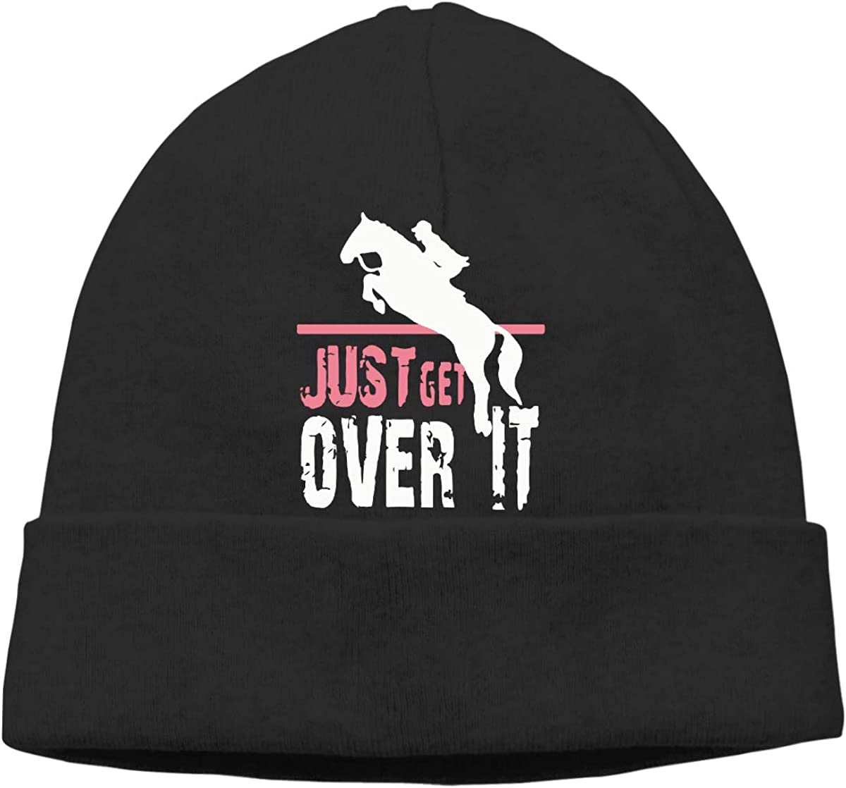 Horse Riding Silhouette Men /& Women Sweat Wicking Winter Ski Beanie Skull Cap