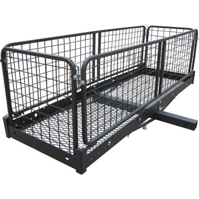 Ultra-Tow Steel Cargo Hauler with Removable Basket - 500-Lb. Capacity, 60in.L x 20in.W x 20in.H (Cargo Hauler With Basket)