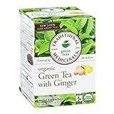 Traditional Medicinals Green Tea with Ginger, Green Tea, Organic, 16 CT