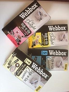 Webbox lick-e-lix Gato Golosinas - Variedad Pack: Amazon.es: Productos para mascotas
