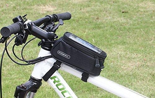 Road Mountain Bike Bag Pannier Classic Roswheel Mini Cycling Bicycle Front tube Bags For Men Women For iphone 4 5 6 7 Plus 8 8plus X Samsung Huawei Xiaomi LG HTC,S M L