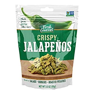 Fresh Gourmet Crispy Jalapenos, Lightly Salted, 3.5 Ounce (Pack of 6)