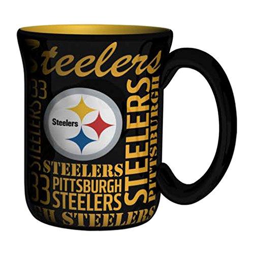 NFL Pittsburgh Steelers Sculpted Spirit Mug, 17-ounce, (Nfl Pittsburgh Steelers Coffee Mug)