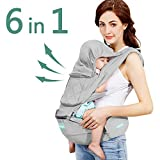 Windsleeping Toddler Baby Carrier with Hood for All Seasons,6-in-1 Ways to Carry,Hip Seat Carrier Front and Back,Silicone Skid-Proof Seat Surface,Suit for Infant,Toddler,Kids,Newborn – Gray Review