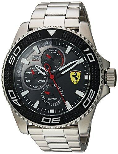 Ferrari Men's 'KERS Xtreme' Quartz Stainless Steel Casual Watch, Color:Silver-Toned (Model: 0830470)