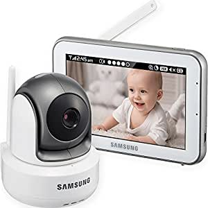 SEW-3043W - Samsung Wisenet BrightVIEW HD Baby Video Monitoring System IR Night Vision PTZ 5.0 Inch. Touch Screen