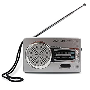 AM/FM Radio,Nestar Pocket Radio Portable BC-R2033 with Mini Size,Superior Signal Reception Loud Voice Operated by 2AA Batteries,Best Gift for Friends and Family