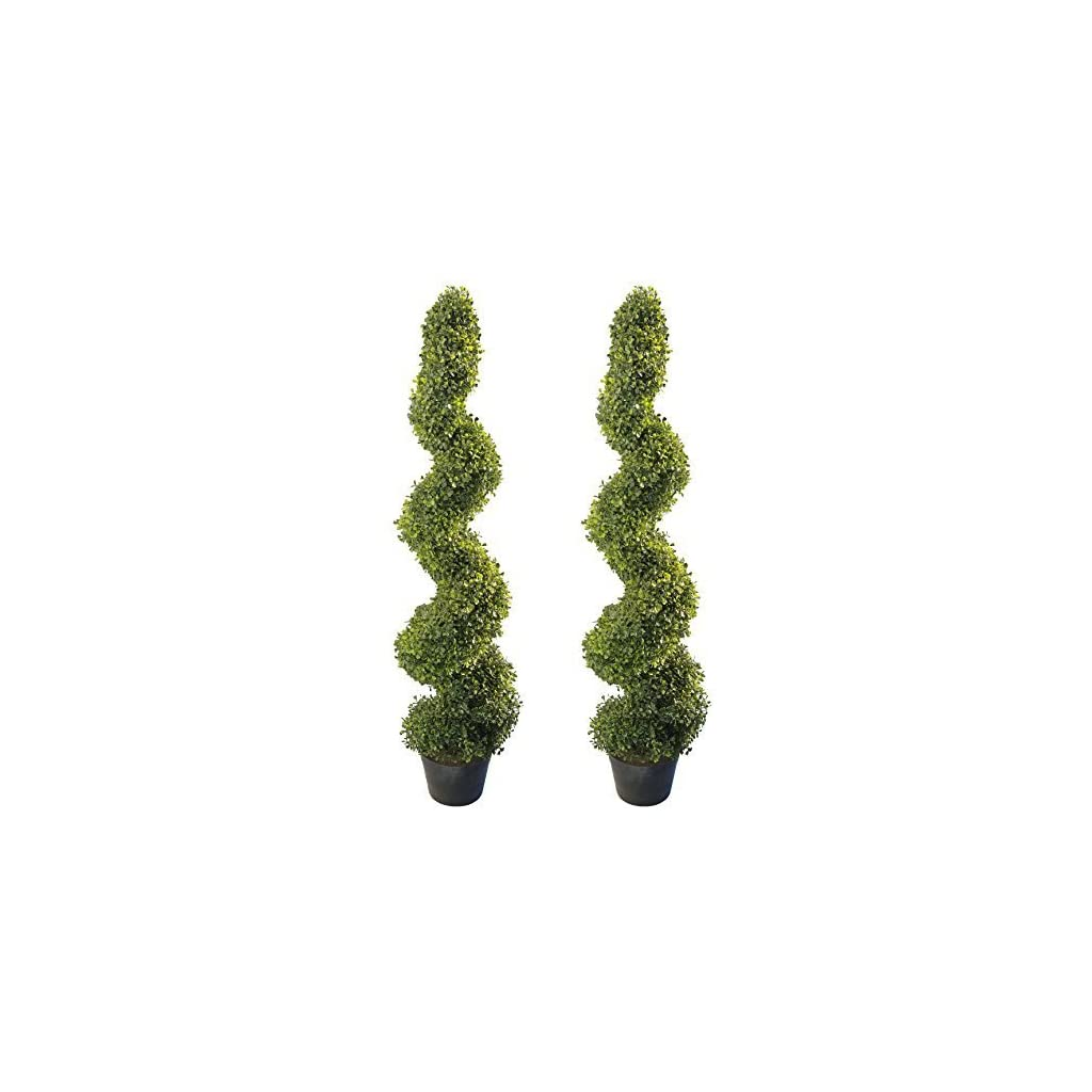 4-Artificial-Topiary-Spiral-Boxwood-Trees-Set-of-2-by-Seven-Oaks-Highly-Realistic-Potted-Decorative-Buxus-Shrubs-Fake-Plastic-Plants-for-Home-Garden-Indoor-Outdoor-Use-UV-Protected
