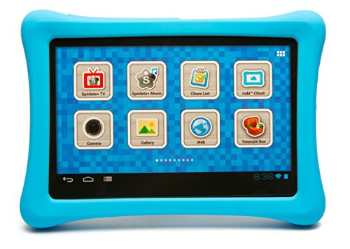 Nabi 2 Tablet Bumper Case with 26 Piece Kinabis Letter Pack Bundle - Educational and Interactive Alphabet Letters with Protective Blue Tablet Case for Kids Ages 3 Plus Photo #5
