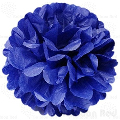 Hot Air Balloon Costume Instructions (8 Inch Tissue Paper Flower Pom Poms, Pack of 5, Navy)