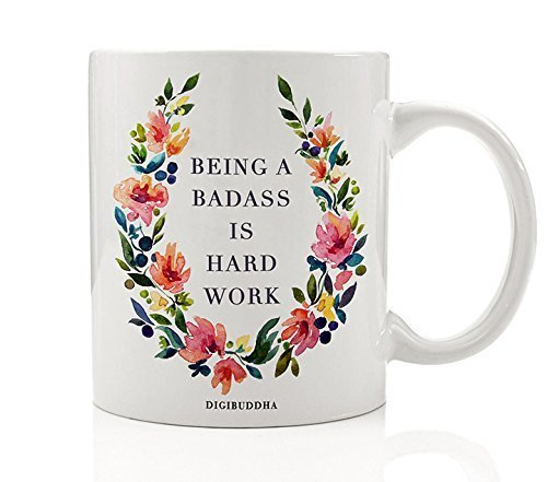 rd Work Coffee Mug 11oz, Unique Birthday Gift for Women Her, Best Office Cup Christmas Present Idea for Mom, Wife, Girlfriend, Coworker Humorous Ceramic Gag by Digibuddha DM0236 ()