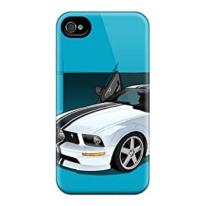 Premium Iphone 4/4s Case - Protective Skin - High Quality For Mustang Vector