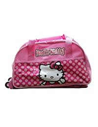 Hello Kitty Canvas Rolling Duffle Bag, Pink, One Size