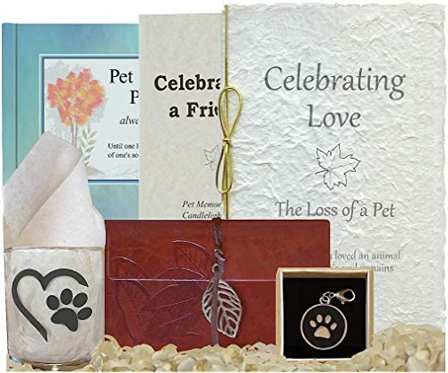 Pet Loss Care Package – Complete Pet Memorial with Remembrance Journal, Full Farewell Celebration to Honor Dog or Cat, Heartfelt Tribute, Thoughtful Sympathy Gift