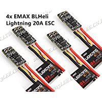 XSD MOEDL 4pcs Emax Lightning 20A BLheli ESC Electronic Speed Controller for mini LT210 QAV&ZMR250 280 Racing Multicopters Quadcopter