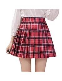 Lutratocro La Cintura Alta con Estilo Patinador Faldas Cortas tableadas