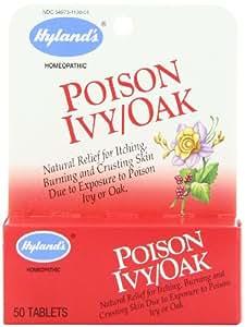 Hyland's Poison Ivy/Oak, 50 Tablets (Pack of 4)