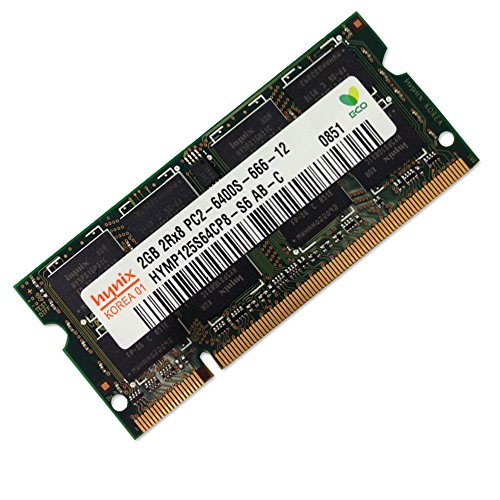 Hynix HYMP125S64CP8-S6 2GB DDR2 SODIMM 200pin PC2-6400 (Speed Ddr2 Ram)