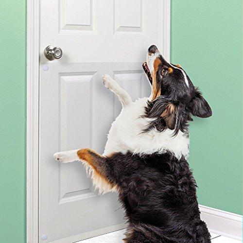 (Large Vinyl Door Guard For Dog Scratching - 33