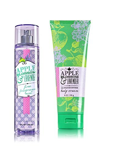 Bath & Body Works ~Signature Collection ~ Apple Blossom & Lavender ~ Gift Set ~ Fine Fragrance Mist & Triple Moisture Body Cream