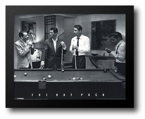The Rat Pack - Pool 24x20 Framed Art (Rat Pack Framed)