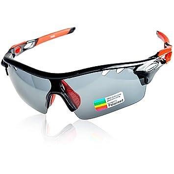 Gafas de Ciclismo, Hubo de Protección UV400 Gafas de Running con 2 Lentes Intercambiables de