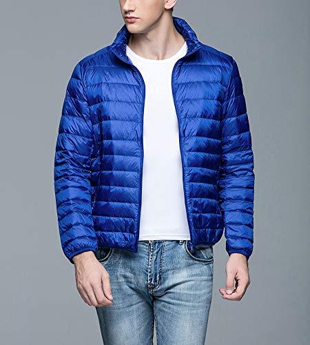 Manches Montant Bleu Longues Homme À Doudoune Zipper Col Légère Manteaux Taille Grande Saphir Blouson OBPyqwSXw