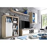 AVANTI TRENDSTORE - Mobile soggiorno in imitazione di quercia Sonoma chiaro/bianco, ca. 270/200/40 cm
