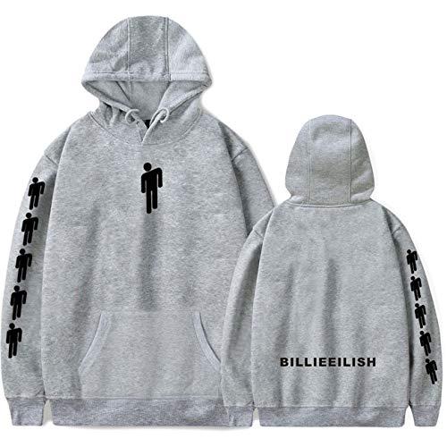 (ZIGJOY Unisex Billie Eilish When We All Fall Asleep Where Do We Go Hoodie Sweatshirt Jumper Pullover for Fans 13085 Grey S)