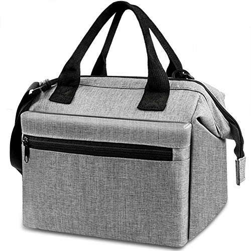 5138b701d9ba Insulated Lunch Bag, ANYEV Reusable Lunch Box for Women, Water Resistant  Cooler Lunch Tote Bag For Work, Picnic (Gray)