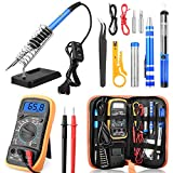 ETEPON Portable Soldering Iron Kit Adjustable Temperature with ON/Off Switch, Digital Multimeter, Soldering
