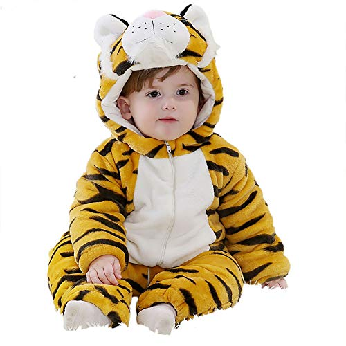 Lucuna Unisex-Baby's Cute Cartoon Hoodies Warm Romper Child Onesies Jumpsuit Outfits from Lucuna