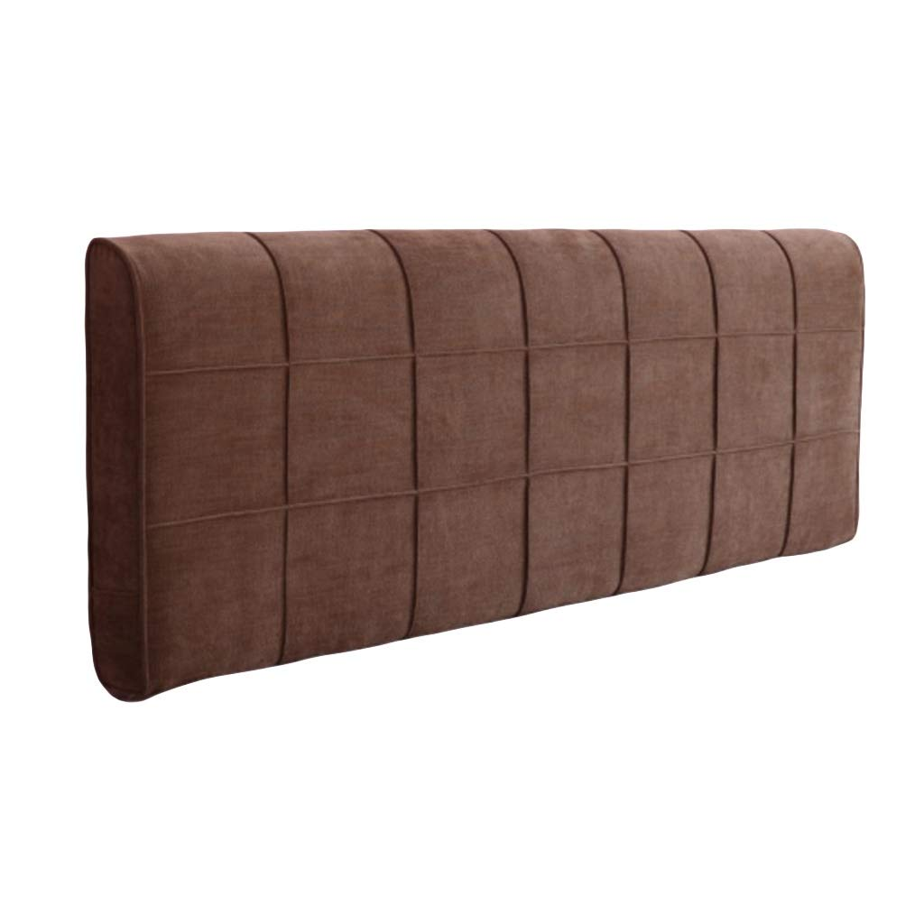 BZXLKD01 Chenille Headboard Cushion Triangular Headboard Backrest Large Wedge Bedside Back Cushion Washable Soft Upholstered (Color : Coffee Color, Size : 200cm/78.7in) by BZXLKD01