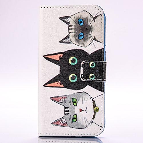 A9H Estilo Libro Funda iPhone 6S Plus Carcasa Cuero Tapa Case Cover Universales Cierre Magnético Carcasa Cuero Pu Tapa Bookstyle Cartera Case con Función de Soporte-11HUA 12HUA