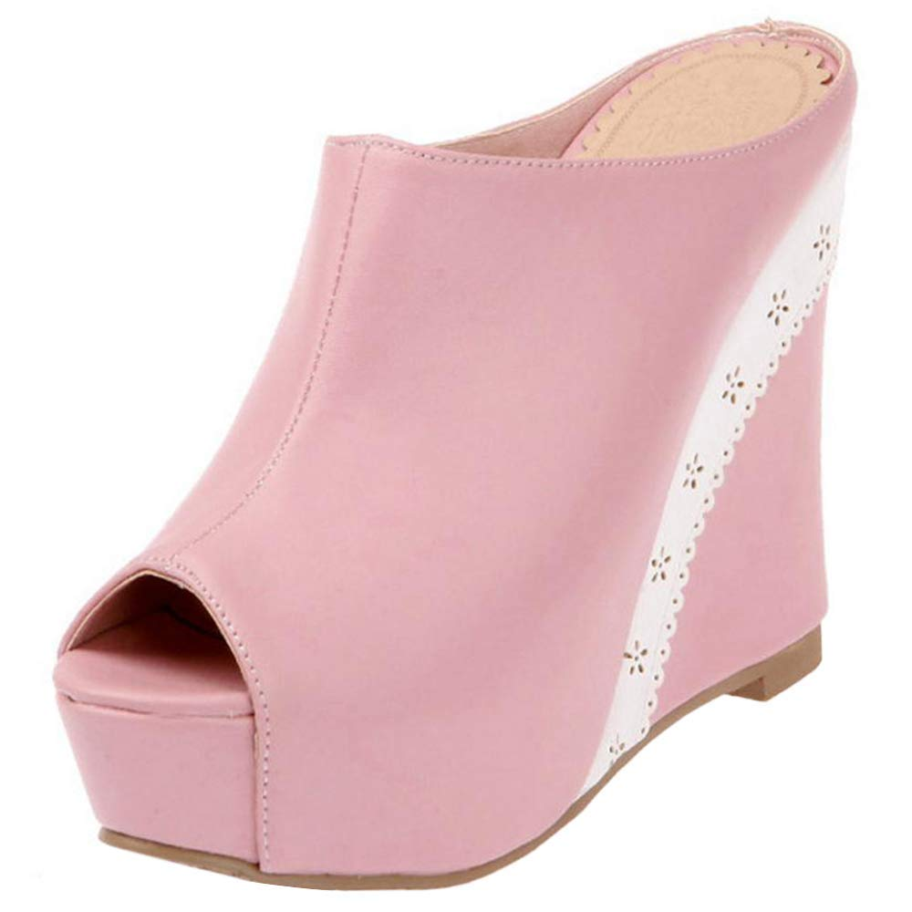 Women Fashion High Heel Mules Slip On